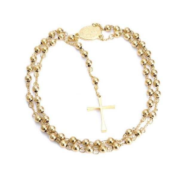 Stainless Steel Rosary Catholic Necklace