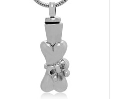 Bone Stainless Steel Cremation Pendant