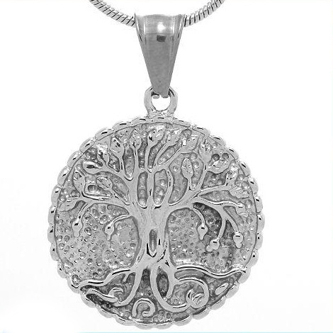 Tree Pendant Stainless Steel Jewelry