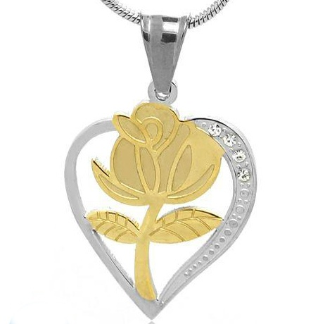 Rose Flower Pendant Stainless steel Jewelry