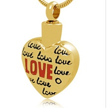 LOVE Stainless Steel Cremation Pendant