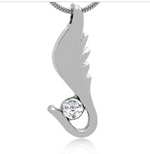 Wing Stainless Steel Cremation Pendant