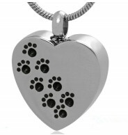 Stainless Steel Cremation Footprint Pendant