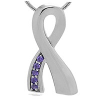 Ribbon Stainless Steel Cremation Pendant Keepsake Jewelry