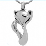 Stainless Steel Cremation Fox Pendant Memorial Jewelry