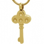 Key Stainless Steel Cremation Pendant Keepsake Jewelry