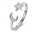 925 Sterling Silver Adjustable Womens Ring