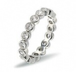 925 Sterling Silver Womens CZ Ring