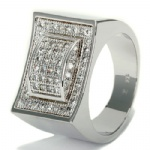 Hip Hop Sterling Silver Ring Bling Jewelry