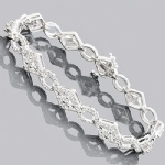 Hip Hop Sterling Silver Bracelet Bling Jewelry