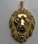 Lion Hip Hop Pendant Sterling Silver Jewelry