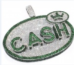 Cash Hip Hop Pendant Sterling Silver Jewelry