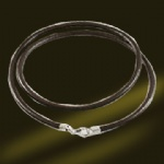 925 Sterling silver necklace Leather Chains