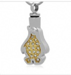 Penguin Stainless Steel Cremation Pendant