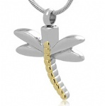 Dragonfly Stainless Steel Cremation Pendant