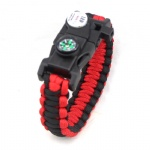 survial LED paracord bracelet with compass