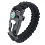 U shackle Paracord Survival Bracelet outdoor bracelet with compass