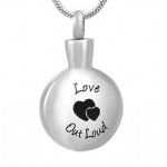 Stainless Steel Urn Cremation Pendant Memorial Jewelry