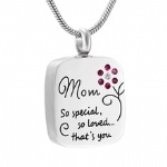 Stainless Steel Cremation Pendant Keepsake Jewelry