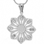Flower Pendant Stainless steel Jewelry