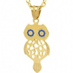 Owl Pendant Stainless Steel Jewelry