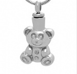 Bear Stainless Steel Cremation Pendant