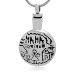 MAMA FOREVER Stainless Steel Cremation Pendant