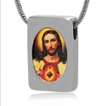 Jesus Stainless Steel Cremation Pendant