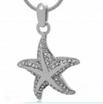 Stainless Steel Cremation Starfish Pendant