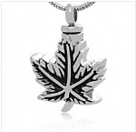 Maple leaf Stainless Steel Cremation Pendant