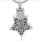 Pentagram Stainless Steel Cremation Pendant