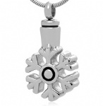 Snow Stainless Steel Cremation Pendant