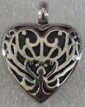 Heart Stainless Steel Cremation Pendant Memorial Jewelry