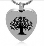 Tree Stainless Steel Cremation Pendant