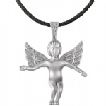 Angel Hip Hop Pendant Sterling Silver Jewelry