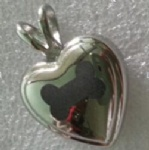 Footprint Stainless Steel Cremation Pendant