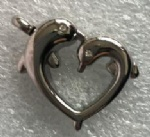 Dolphins Stainless Steel Cremation Pendant